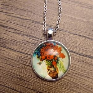 Van Gogh inspired necklace